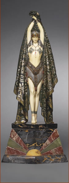 Chiparus Bronze and Ivory figure Actinea 1925